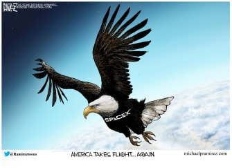 Editorial Cartoon U.S. SpaceX NASA