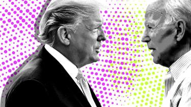 President Trump and Joe Biden.