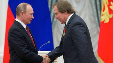 Vladmir Putin and Sergei Roldugin.