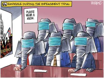 Political Cartoon U.S. gop trump impeachment