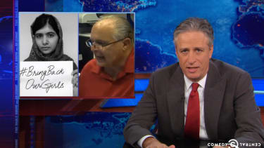 Jon Stewart serves up a brutal critique of Boko Haram, with a side of Rush Limbaugh flambé