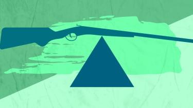 A rifle.