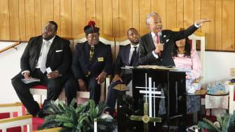 Rev. Al Sharpton speaks at Corey Jones' funeral