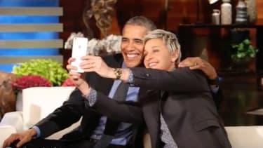 President Obama and Ellen DeGeneres.
