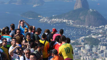 Tourists in Brazil.