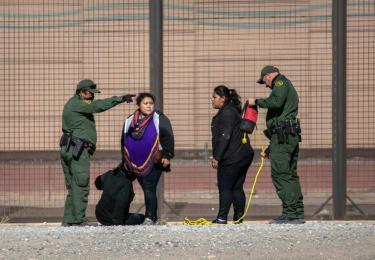 Border Patrol officials near El Paso