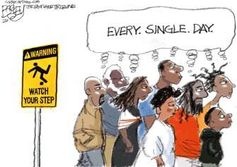 Editorial Cartoon U.S. united states racism Ahmaud Arbery