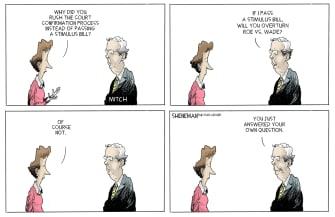 Political Cartoon U.S. McConnell stimulus SCOTUS