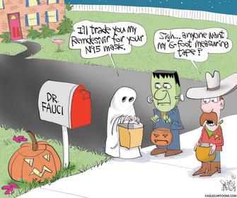 Editorial Cartoon U.S. Halloween COVID Fauci