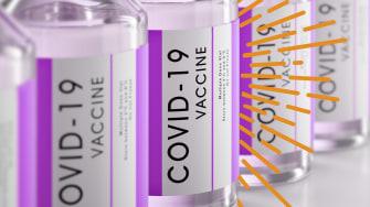 Coronavirus vaccine vials.