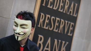 A demonstrator with Occupy Wall Street in Chicago