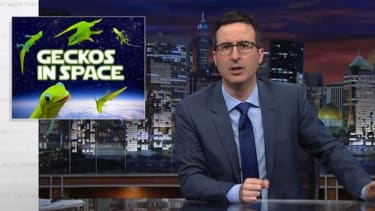 John Oliver really, really wants to #GoGetThoseGeckos