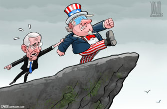 Political Cartoon U.S. Fauci coronavirus