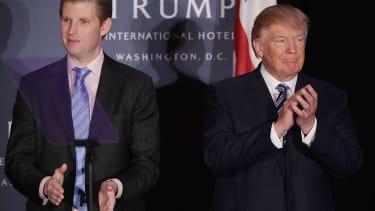 Eric Trump and President Trump