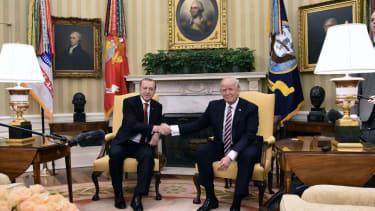 President Trump hosting Turkey's President Erdogan.