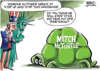 Political Cartoon U.S. McConnell Trump concede