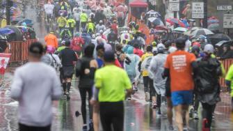 2018 Boston Marathon.