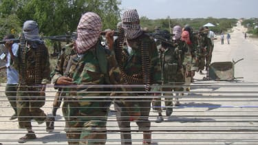 Al-Shabab recruits in Somalia.