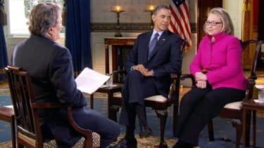 President Obama and Secretary of State Hillary Clinton speak with 60 Minutes correspondent Steve Kroft.