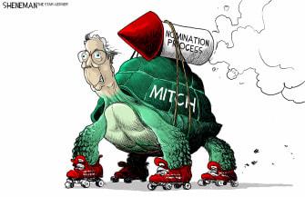 Political Cartoon U.S. McConnell scotus nomination