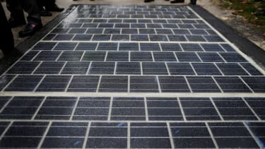 The world's first solar road, in Tourouvre-au-Perche, France.