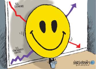 Political Cartoon U.S. Mike Pence economy covid