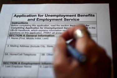 Unemployment benefit application.