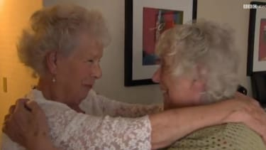 Twins reunited after almost 8 decades apart