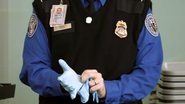 A TSA agent at Washington Reagan National Airport.