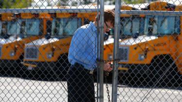 Locking up school busses