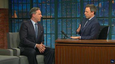 Jake Tapper talks a free press with Seth Meyers