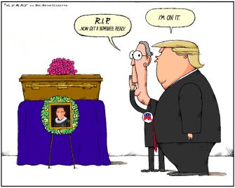 Political Cartoon U.S. Trump McConnell Ginsburg SCOTUS