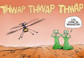 Editorial Cartoon U.S. mars nasa ingenuity