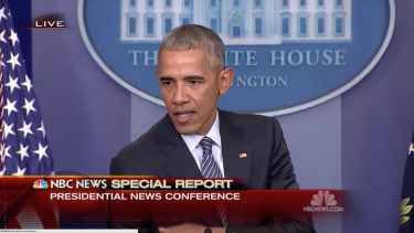 President Obama delivered remarks about the temperament of the president elect.