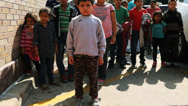 Migrant kids at a Catholic Charities facility in Texas