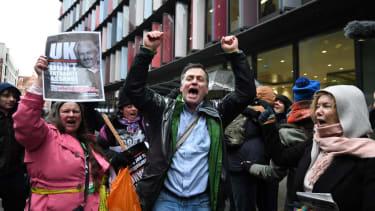 Julian Assange supporters celebrate