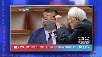 Ted Cruz takes a nap