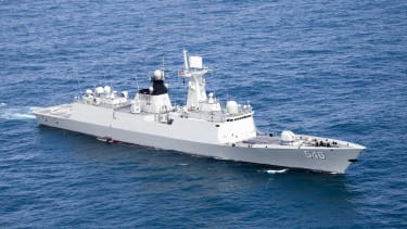 A Chinese missile frigate