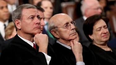 Chief Justice John Roberts and Justices Stephen Breyer and Elena Kagan