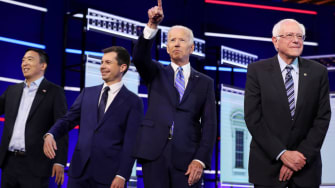 Pete Buttigieg, Joe Biden and Bernie Sanders.