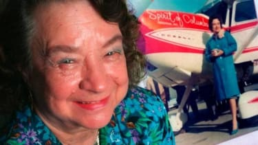 Geraldine 'Jerrie' Mock, the first woman to fly solo around the world, is dead at 88