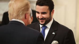 Prince Khalid bin Salman meets Donald Trump.
