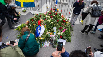 Aftermath of the Sweden truck attack