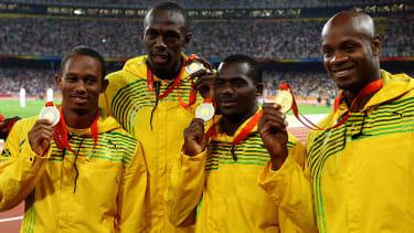 Usain Bolt and Nesta Carter.