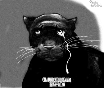 Editorial Cartoon U.S. Chadwick Boseman RIP Black Panther