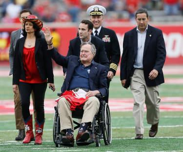 George H.W. Bush is hospitalized in Houston