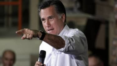 Mitt Romney speaks at a campaign stop in Pittsburgh, Penn., on May 4