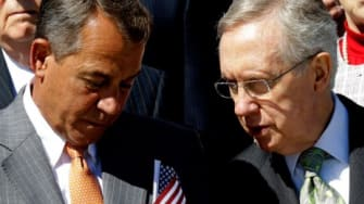 """House Speaker John Boehner (R-Ohio) and Senate Majority Leader Harry Reid (D-Nev.). Reid, """"the most powerful Democrat on Capitol Hill,"""" reportedly asked President Obama last year to give cong"""