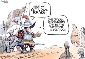 Editorial Cartoon U.S. deb haaland interior secretary native americans