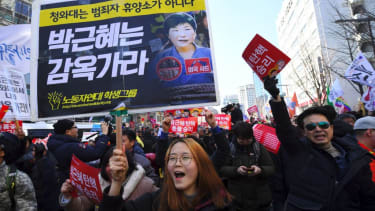 South Koreans celebrate ouster of President Park Geun-hye